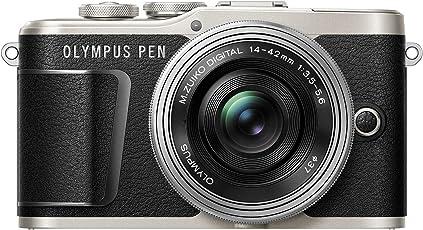 Olympus PEN E-PL9 Kompakte Systemkamera (16 Megapixel, elektrischer Zoom, 4k Movies, 7,6 cm (3 Zoll) Display, Wifi) inklusiv 14-42 mm Pancake Objektiv schwarz/silber