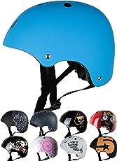 Skullcap BMX Helm ☢ Skaterhelm ☢ Fahrradhelm ☢, Herren   Damen, Schwarz Matt & glänzend