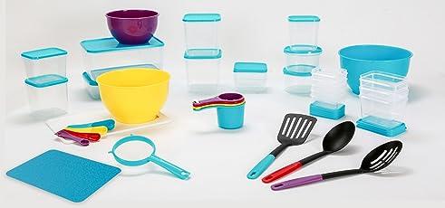 All Time Plastic Kitchen Store Set, 36-Pieces, Multicolour