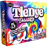 KUMBER Tie Dye Kit Kids - 5 Colours with Added Refill Packs, Rubber Bands, Gloves and Funnel - Art and Craft Set for…