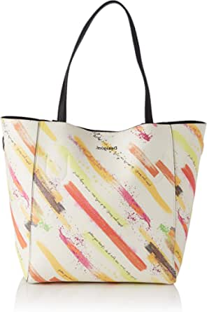 Desigual Womens PU Shopping Bag, Yellow, U
