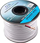 C&E CNE683928 14AWG CL2 Rated 2 Conductor Loud Speaker Cable (for in-Wall Installation, 50 Feet/15.24 Metre, White) Speaker Cables at amazon