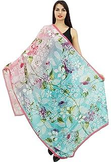 533822fc8dc Phagun Floral longue écharpe Sarong femmes Wrap dupatta été Stole Foulards-40x72  pouces