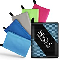 Invool Microfiber Towel, 5 colours with carry bag - Quick Dry Towel for Travel, Camping, Fitness, Beach, Vacation, Fast…