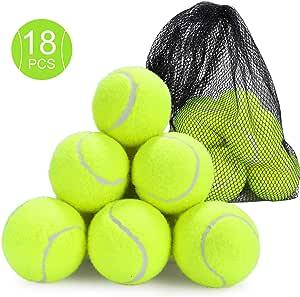 Fostoy Palline da Tennis, Confezione da 18 Palline Giocattolo per
