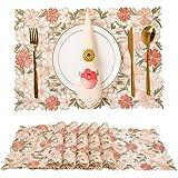 Tayis Blommig broderi bordstablett för bröllopsfest bondgård dekor (blommig broderi rosa)