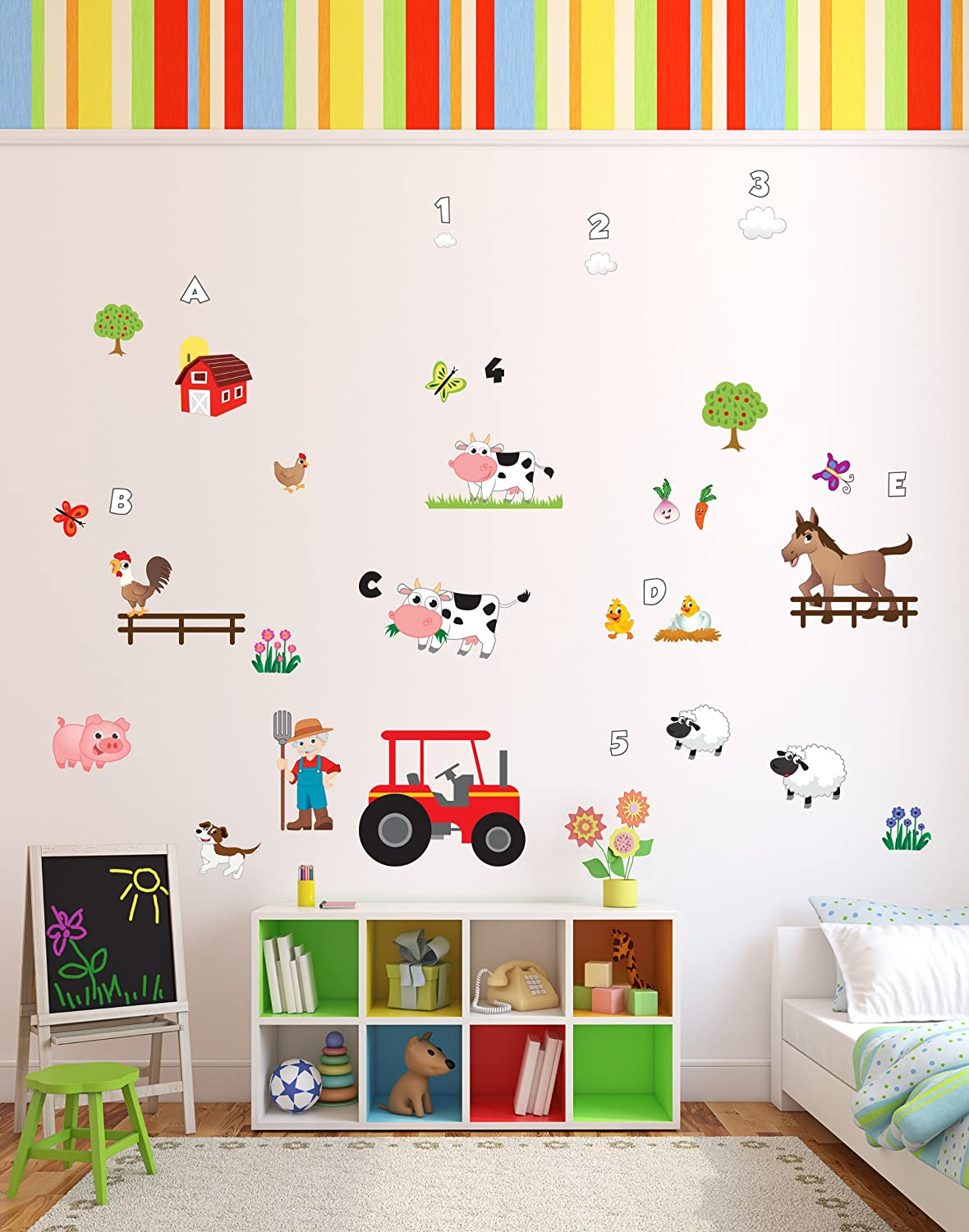 Fun U0027Old MacDonald Had A Farmu0027 Animals Nursery Rhyme Wall Stickers / Wall  Decals Which Come To Life In Childrens Bedrooms, Kids Playrooms And Baby  Nursery ... Part 19