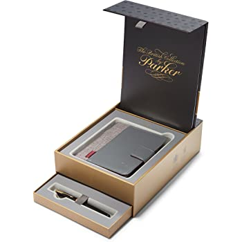 ebd9bdcb4bd1 PARKER Sonnet British Collection Fountain Pen Gift Box and Notebook Organizer  Set