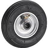 Dörner + Helmer 740108 luchtwiel 200 x 50 x 20 mm met stalen velg naaf 60 mm draagkracht 75 kg, zilver, medium