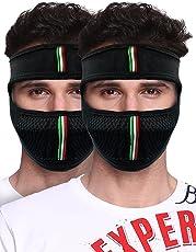 Big Tree Pro Cotton Bike Mask, Pack of 2 (Black)