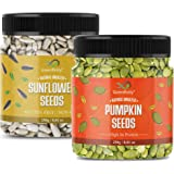 GreenFinity Raw Pumpkin, Sunflower Seeds for Eating Protein and Fibre Rich Food For Immunity Booster Diet Food Pack of 2 - 25