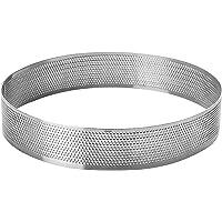 LACOR 68537 Cercle Rond perforé d 7 h 2cm, Acier Inoxydable, Gris, 7 cm