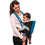LuvLap Sunshine Baby Carrier with 2 Carry Positions, for 6 to 24 Months Baby, Max Weight Up to 12 Kgs (Black & Blue)