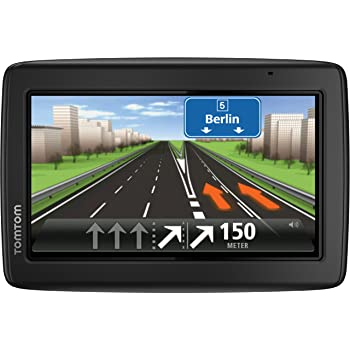 "TomTom 25 M Central Europe Traffic - GPS para coches de 5"", (mapas de Europa central), negro [importado]"