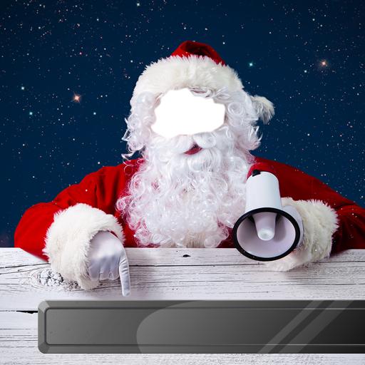 Weihnachtsmann-Fotomontage