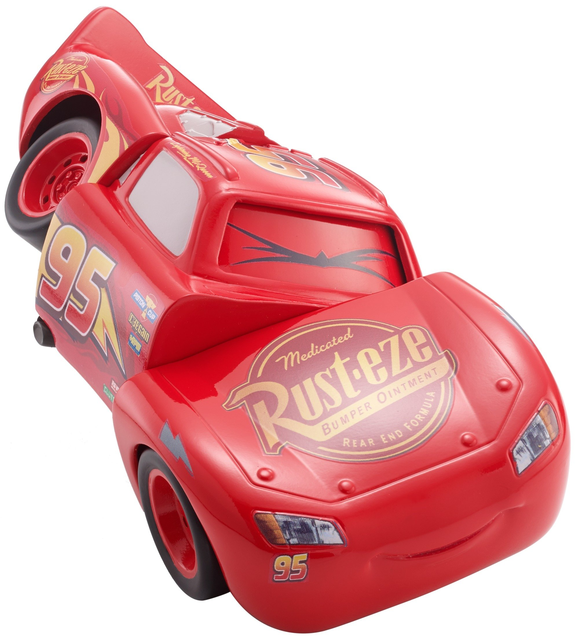 Disney DYW39 Pixar Cars 3 Race and Reck Lightning McQueen Vehicle Disney New Disney Pixar Cars 3 Twisted Crashers vehicle.  His body twists and his eyes change after the crash!  Restore him to his former; pre smash glory by simply twisting the car back into place! 9