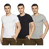 Chromozome Men's Plain Regular Fit T-Shirt (Pack Of 3)