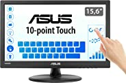 ASUS 15.6-Inch Monitor, 1366x768, TN, 10-point Touch Monitor, HDMI, Flicker free, Low Blue Light, TUV certified - Black,VT16