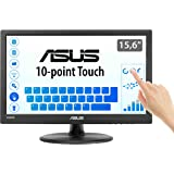 Asus VT168H - Monitor tactil de 15.6'' (1366x768, 200 cd/m², 50000000:1, capacitiva, 76 Hz, 0,252 x 0,252 mm, filtro de luz a