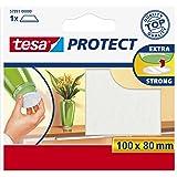 Tesa Protect viltglijder, rechthoekig, 100 mm: 80 mm, wit, 1 stuk
