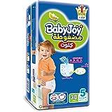 Baby Joy Diapers Culotte Unisex Jumbo Junior Size 5-34 Plus 4 Pieces