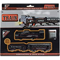 VibNu Gallary Train Track Set Black Train Toy Express Train Set with Fun, Interactive, Ready to Play Holiday Model…