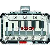 Bosch Professional 6-delige vingerfrezenset (voor hout, accessoire bovenfrezen met schacht van 6 mm)