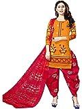 Rajnandini Women's Cotton Unstitched Salwar Suit (Yellow_Free Size)