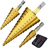 Ss shovan 3-delige HSS trapboorset hogesnelheidsstaal (4-12 mm, 4-20 mm en 4-32 mm) Cone Drill Bits gatsnijder voor hout roes