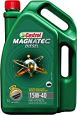 Castrol MAGNATEC DIESEL 15W-40 API SN Part-Synthetic Engine Oil for Diesel Cars (5 L)