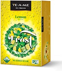 TE-A-ME Ice Brews Cold Brew Ice Tea, Lemon, 18 Pyramid Bags