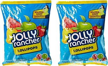Jolly Ranchers Big Bag Lollypops, 360g - Pack of 2