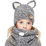 Genfien Sombrero y Bufandas Invierno Sombreros de Punto Coif Hood Gorros de Animales Linda Cálidos Gorros para Otoño Invierno