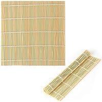 LUTER 9 x 9.5 Pouces Bambou Naturel Tapis à Sushi Outil De Fabrication De Sushi Rouleau à Sushi Pour Faire Des Sushis…