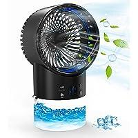 Climatiseur Portable - Refroidisseur D'air con 3 Vitesse Climatiseur Mobile avec Timer 2/4H, pour Maison/Bureau(Noir)