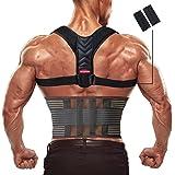 Olymstars CorrettorePosturale, CorrettorePosturaSchienaUomo Donna/Migliorare Postura con Fascia Lombare/Regolabile Traspi