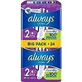 Always Ultra Long (T2) Serviettes Hygiéniques Ailettes x24