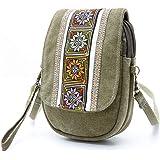 جودهان تطريز قماش حقيبة كروسبودي الهاتف الخليوي الحقيبة محفظة عملة للسيدات