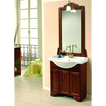 Mobile da bagno classico in legno con lavabo arte povera casa e cucina - Mobile bagno savini ...