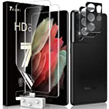 TAURI Skyddsfilm kompatibel med Samsung Galaxy S21 Ultra och S21 Ultra 5G 2 stycken skyddsfilm TPU och 2 stycken S21 Ultra ka