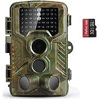 COOLIFE 21MP 1080P HD Caméra de Chasse Caméra de Surveillance Étanche 49 LEDs Grand Angle 125 ° De Vision Nocturne 25m…