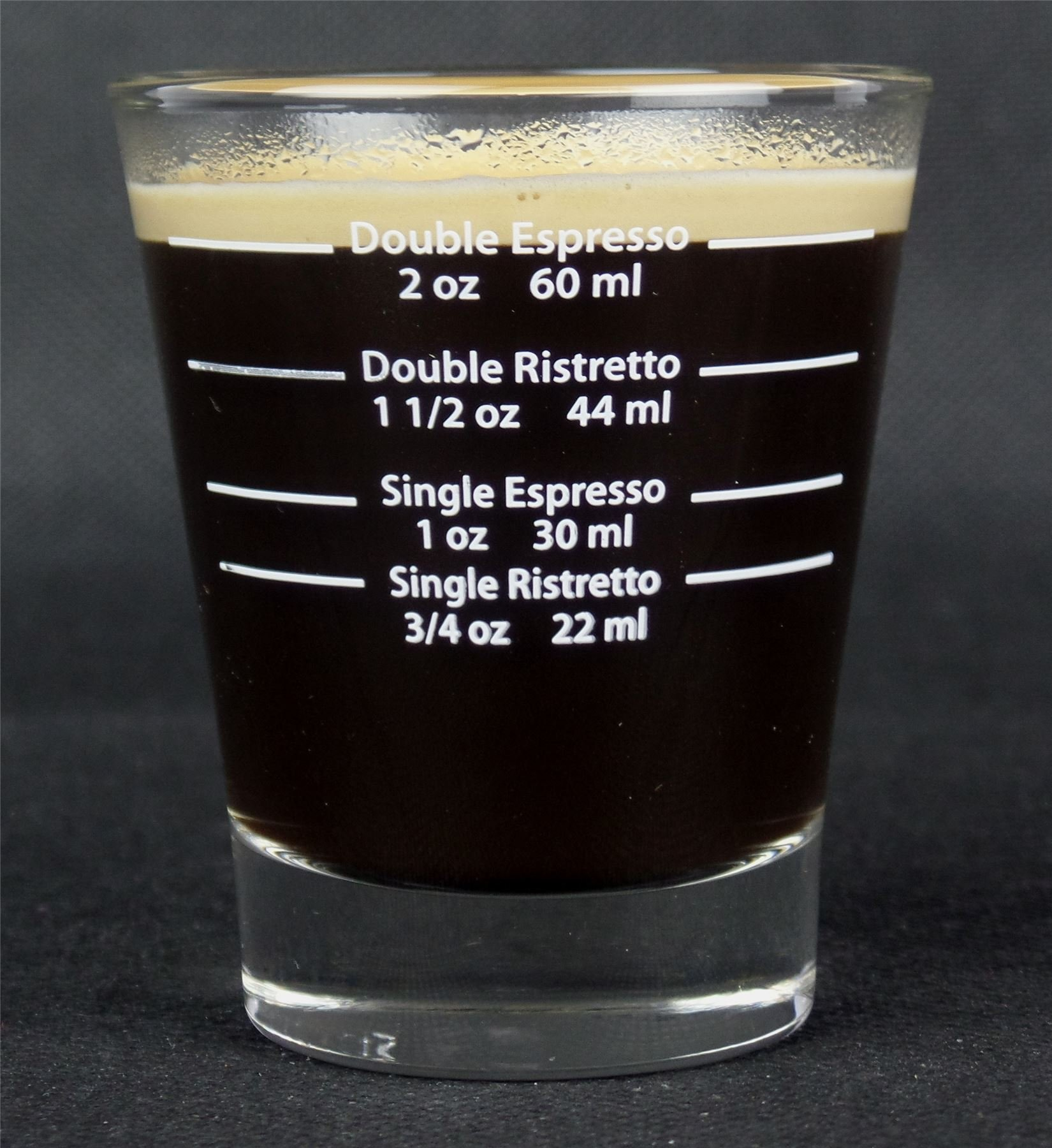 81RtHqoDUYL - White Lined Espresso Shot Glass Measure for Coffee Espresso Machines - 85ml - by EDESIA ESPRESS