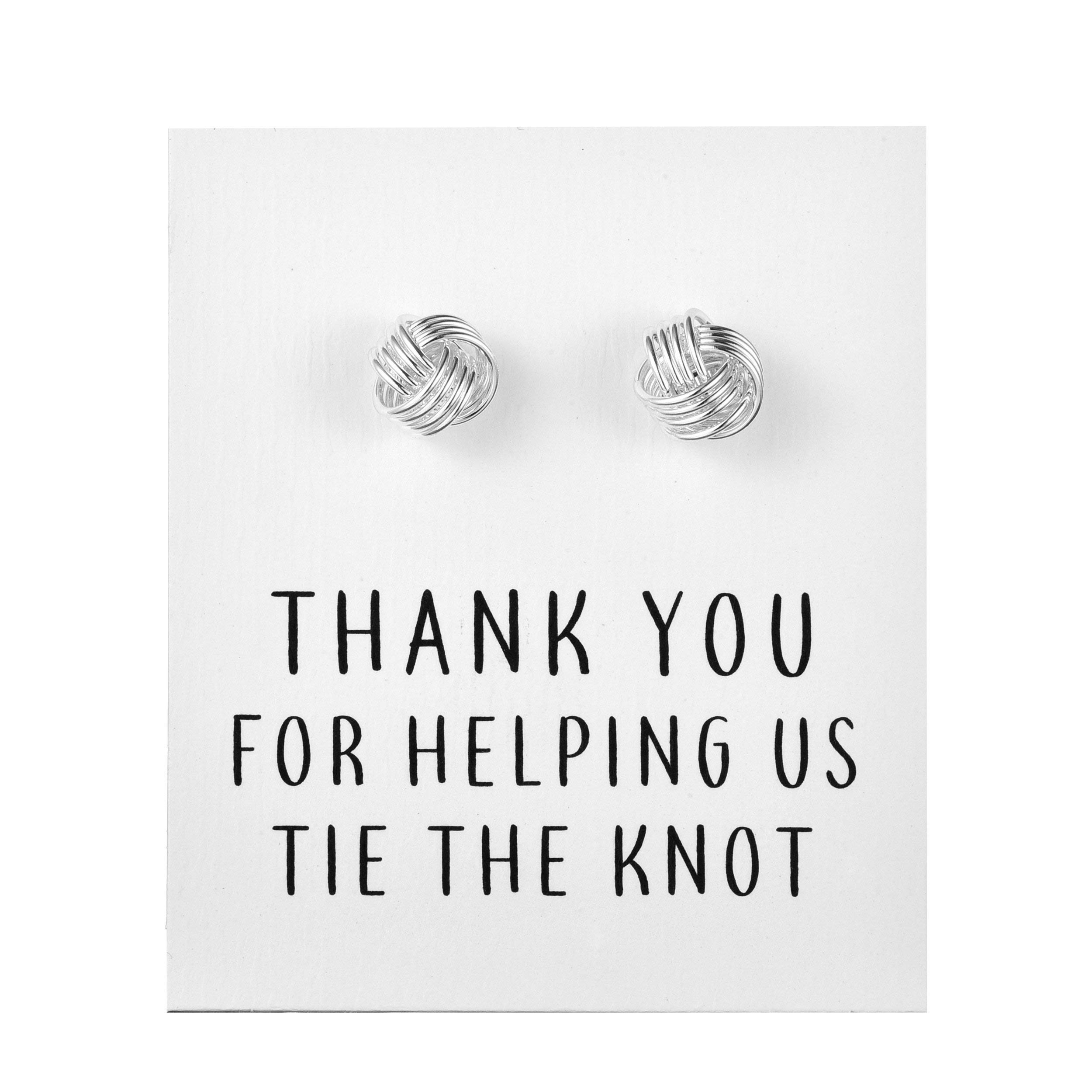 "Silver""Tie The Knot"" Cufflinks"
