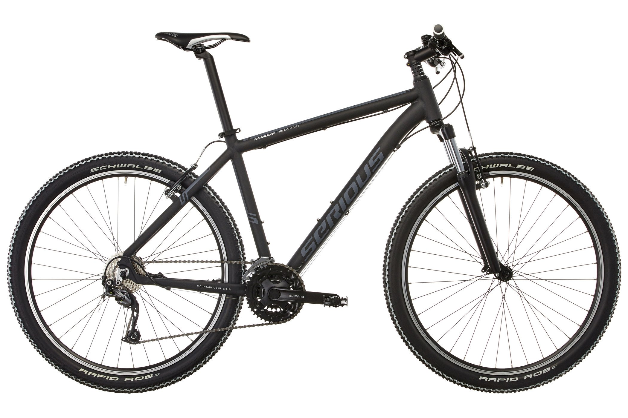 "81RtzRFSDxL - SERIOUS Ridge Trail 27,5"" mat black 2017 MTB Hardtail"
