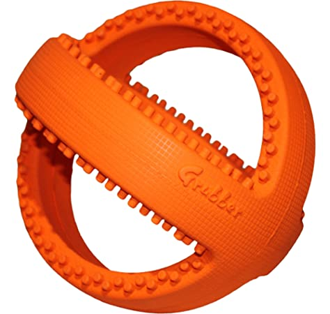 good for Teeth /& Gums Rugby Shape, Orange Happypet/® Interactive Football or Rugby shaped Tug Toy