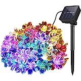 Lámparas solares de Flor cadena Exterior Jardín, 7m 50 LED Impermeable Luces de Hadas Decoración Festival Vistoso Luz para Pa
