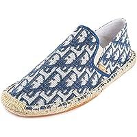 Kentti Chaussures Espadrilles Plates Confortables en Toile pour Hommes