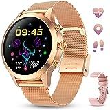 Smartwatch Donna GOKOO Touchscreen Completo Orologio Intelligente Donna con Cardiofrequenzimetro Misuratore Pressione IP68 Im