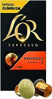 L'Or Espresso Café Delizioso - Intensité 5 - 50 Capsules en Aluminium Compatibles avec les Machines Nespresso®* (Lot de...