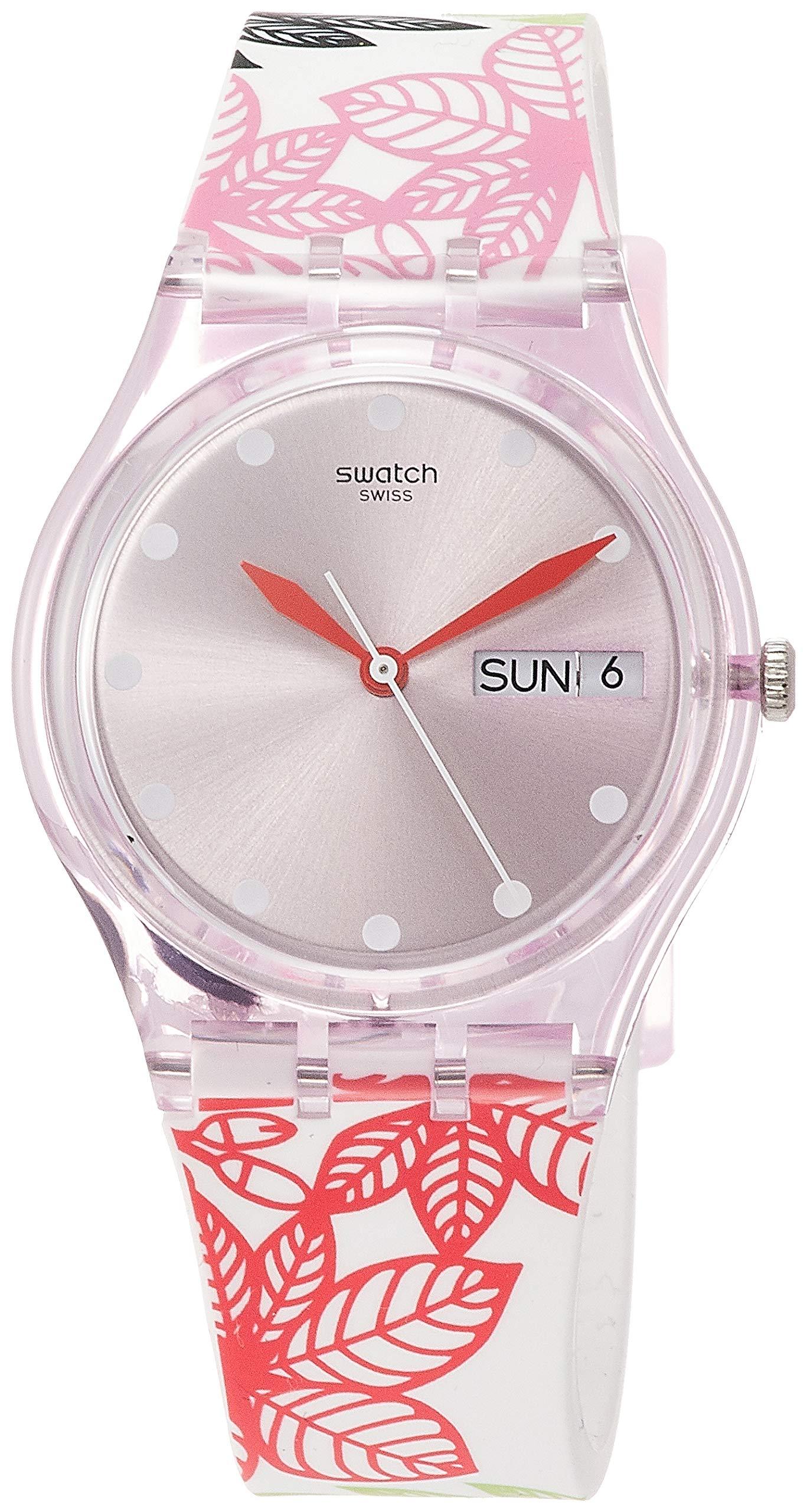 Swatch Reloj Analógico para Mujer de Cuarzo con Correa en Silicona GP702